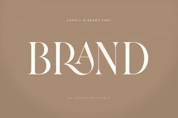 Brand - Lovely Elegant Font